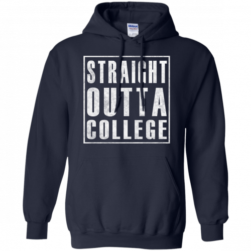 Graduate 2017: Straight Outta College t-shirt - image 125 500x500