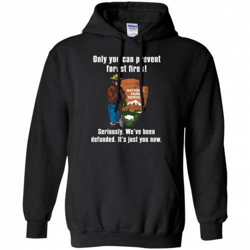 Smokey Defunded - Only you can prevent forest fires shirt - image 137 500x500