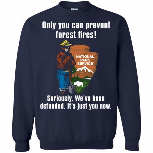 Smokey Defunded - Only you can prevent forest fires shirt - image 140 500x500