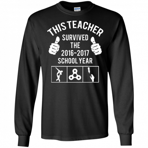This Teacher Survived The 2016 2017 School Year t-shirt - image 180 500x500