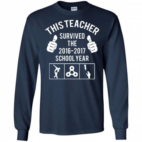 This Teacher Survived The 2016 2017 School Year t-shirt - image 181 500x500