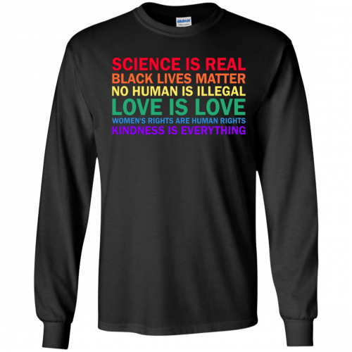 Tom Hanks: science is real black lives matter shirt, hoodie, sweater - image 1174 500x500