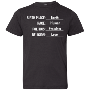 Birthplace earth race human kids shirt, Infant, Toddler - image 1547 300x300