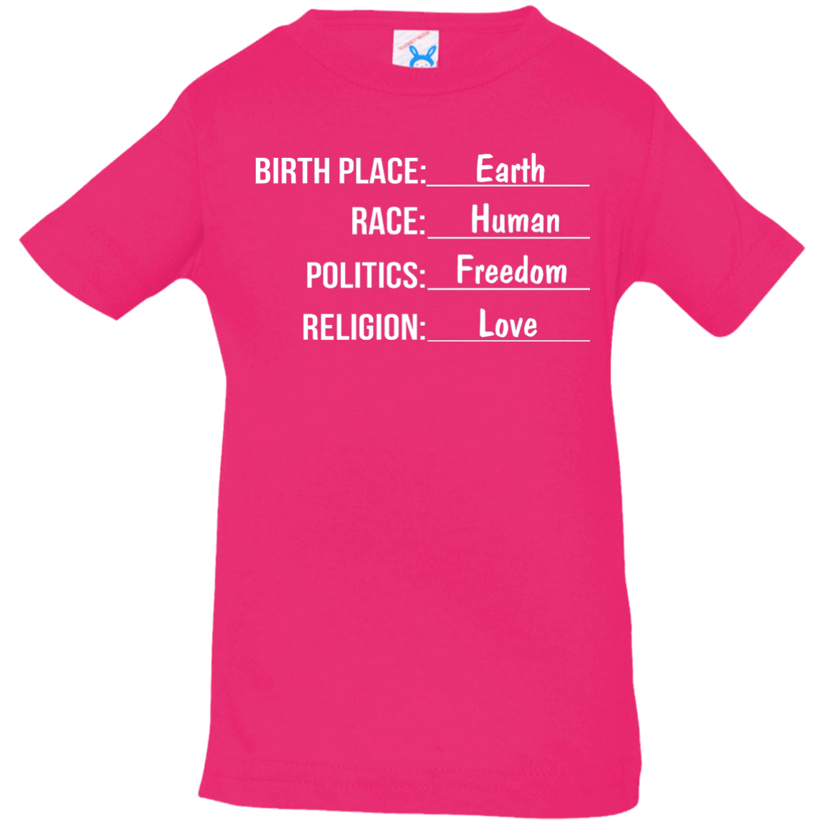 0a1399bc Birthplace earth race human kids shirt, Infant, Toddler - image 1561 500x500