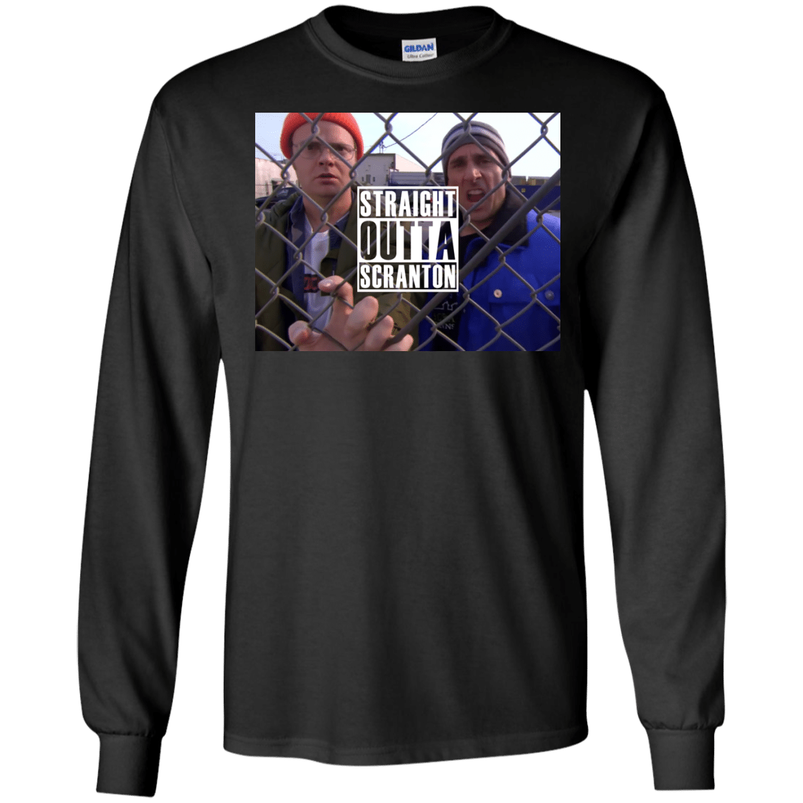 The office straight outta scranton shirt long sleeve for Straight from the go shirt