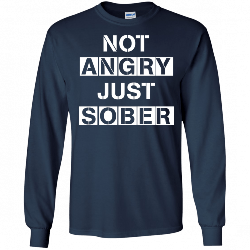 Not Angry Just Sober t-shirt, racerback - image 501 500x500
