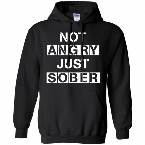 Not Angry Just Sober t-shirt, racerback - image 502 500x500