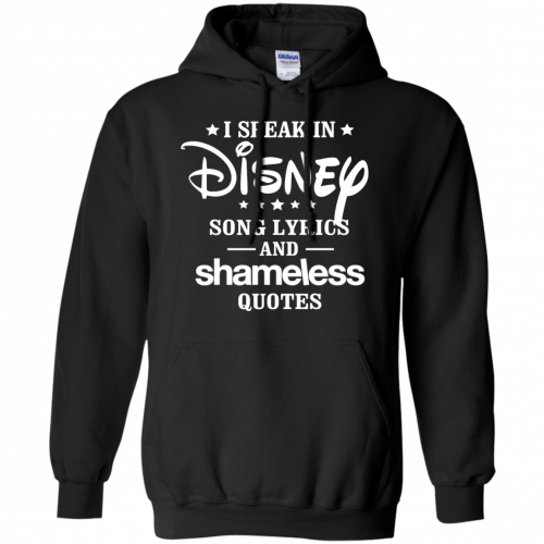 I Speak In Disney Song Lyrics And Shameless Quotes shirt, racerback - image 724 500x500