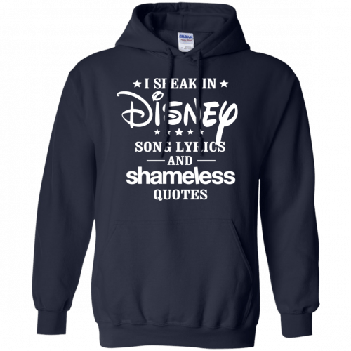 I Speak In Disney Song Lyrics And Shameless Quotes shirt, racerback - image 725 500x500