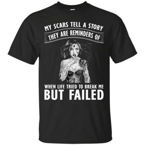 Wonder Woman: My scars tell a story they are reminders t-shirt - image 75 500x500