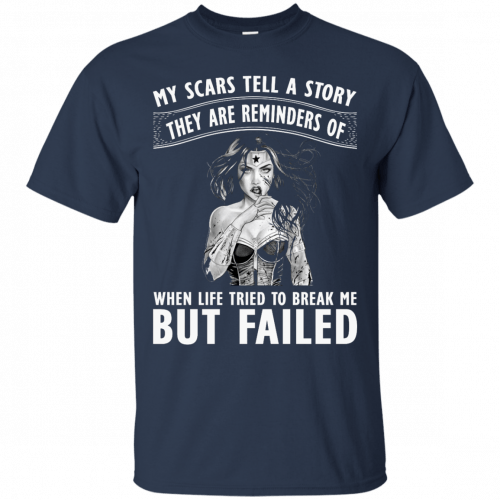 Wonder Woman: My scars tell a story they are reminders t-shirt - image 77 500x500
