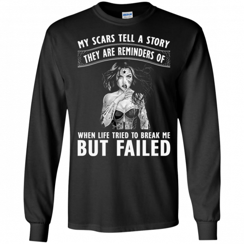 Wonder Woman: My scars tell a story they are reminders t-shirt - image 79 500x500