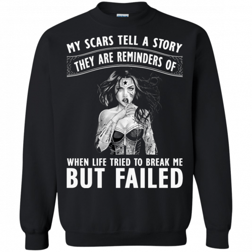 Wonder Woman: My scars tell a story they are reminders t-shirt - image 83 500x500