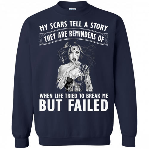 Wonder Woman: My scars tell a story they are reminders t-shirt - image 84 500x500