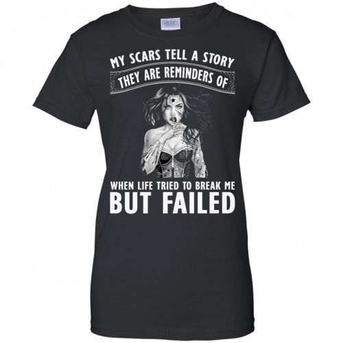 Wonder Woman: My scars tell a story they are reminders t-shirt - image 85 500x500