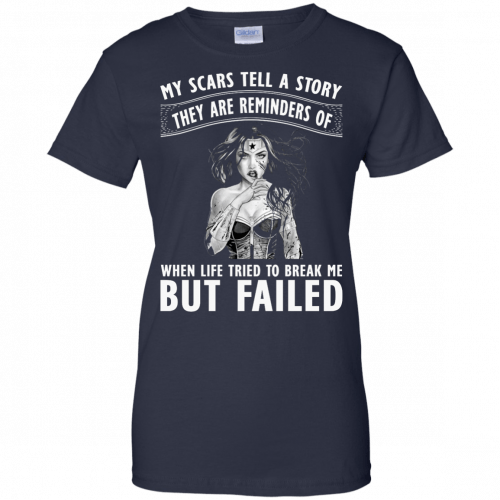 Wonder Woman: My scars tell a story they are reminders t-shirt - image 86 500x500