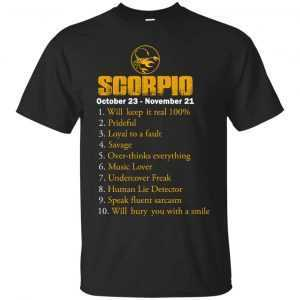 Zodiac Scorpio: Will make it real 100% shirt, tank, hoodie - image 102 300x300