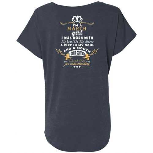 I'm a March girl I was born with my heart on my sleeve shirt, tank top - image 1184 500x500