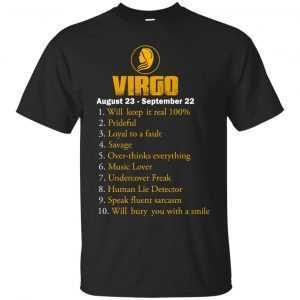 Zodiac Virgo: Will make it real 100% shirt, tank, hoodie - image 128 300x300
