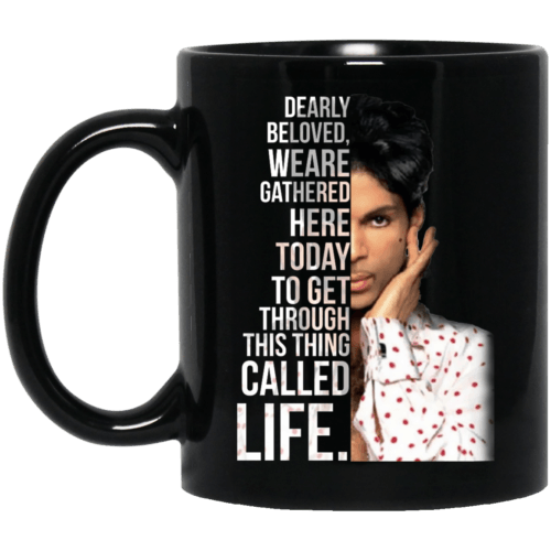 Prince: Dearly beloved we are gathered here today mug - image 137 500x500