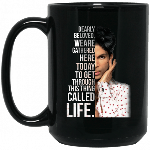 Prince: Dearly beloved we are gathered here today mug - image 138 500x500