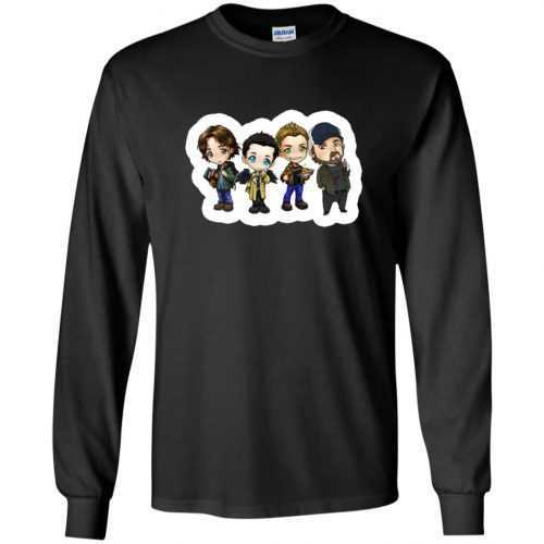 Supernatural: Sam Dean Castiel Idjit t-shirt, long sleeve - image 1644 500x500