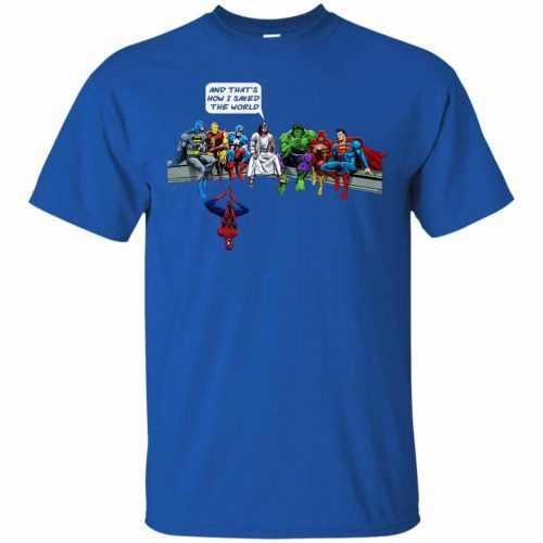 Jesus And Superheroes, And That's How I Saved The World shirt - image 1678 500x500
