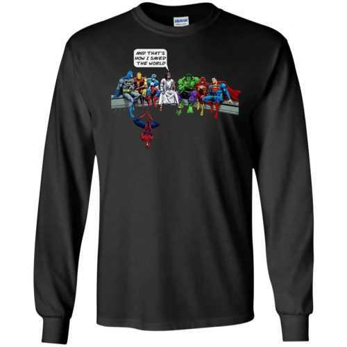 Jesus And Superheroes, And That's How I Saved The World shirt - image 1681 500x500