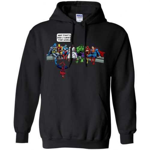 Jesus And Superheroes, And That's How I Saved The World shirt - image 1683 500x500