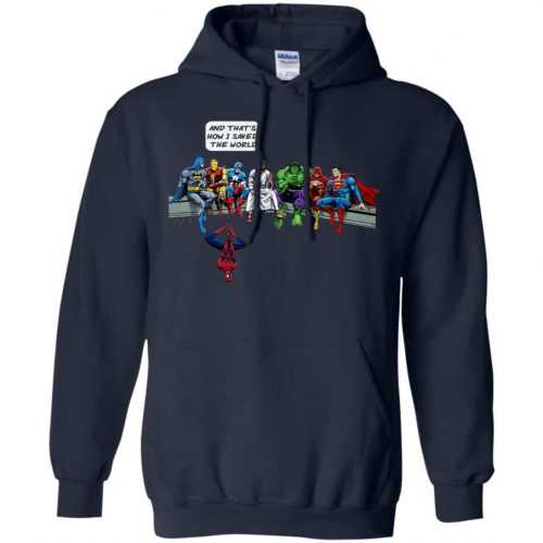 Jesus And Superheroes, And That's How I Saved The World shirt - image 1684 500x500
