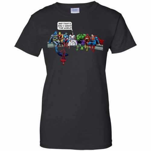 Jesus And Superheroes, And That's How I Saved The World shirt - image 1687 500x500