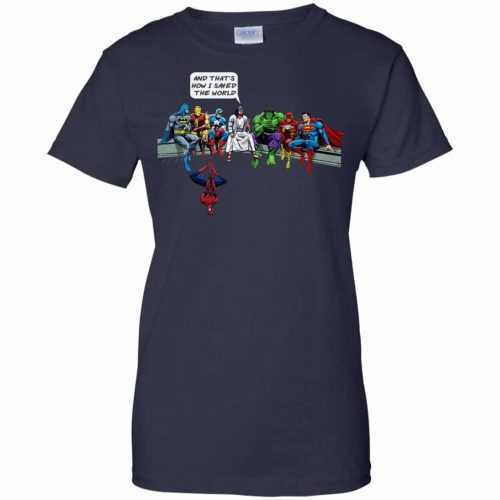 Jesus And Superheroes, And That's How I Saved The World shirt - image 1688 500x500