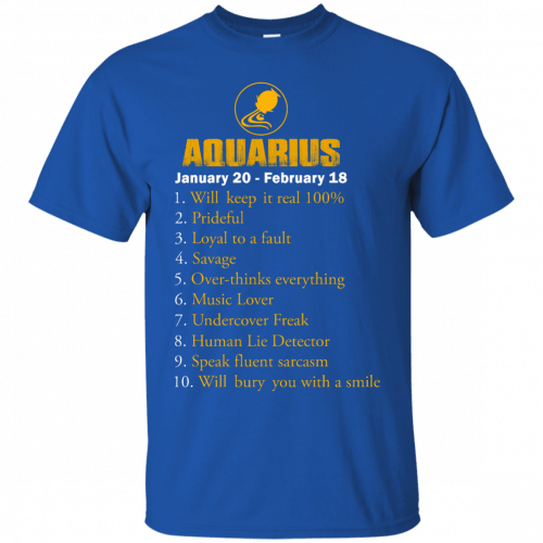 Zodiac Aquarius: Will make it real 100% shirt, tank, hoodie - image 178 500x500