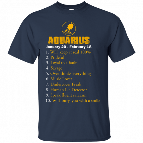 Zodiac Aquarius: Will make it real 100% shirt, tank, hoodie - image 179 500x500