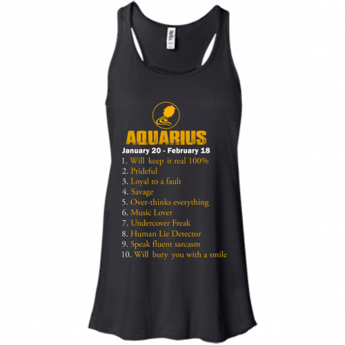 Zodiac Aquarius: Will make it real 100% shirt, tank, hoodie - image 180 500x500