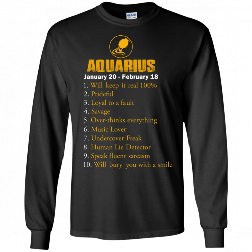 Zodiac Aquarius: Will make it real 100% shirt, tank, hoodie - image 182 500x500