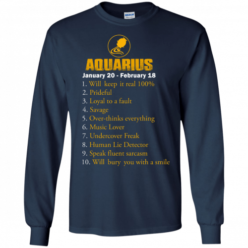 Zodiac Aquarius: Will make it real 100% shirt, tank, hoodie - image 183 500x500