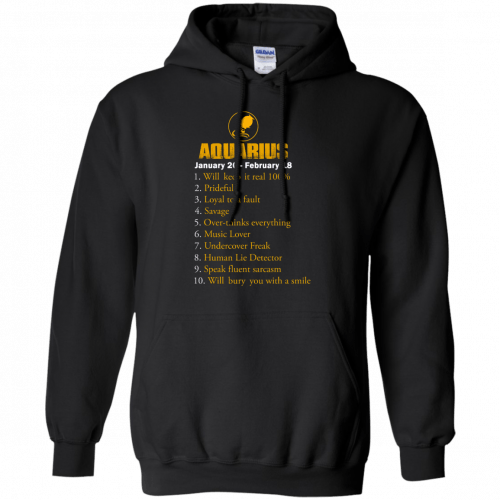 Zodiac Aquarius: Will make it real 100% shirt, tank, hoodie - image 184 500x500