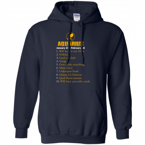 Zodiac Aquarius: Will make it real 100% shirt, tank, hoodie - image 185 500x500