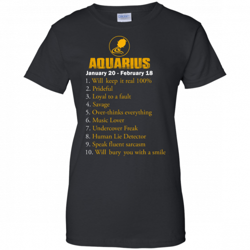 Zodiac Aquarius: Will make it real 100% shirt, tank, hoodie - image 188 500x500