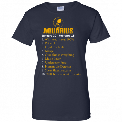 Zodiac Aquarius: Will make it real 100% shirt, tank, hoodie - image 189 500x500