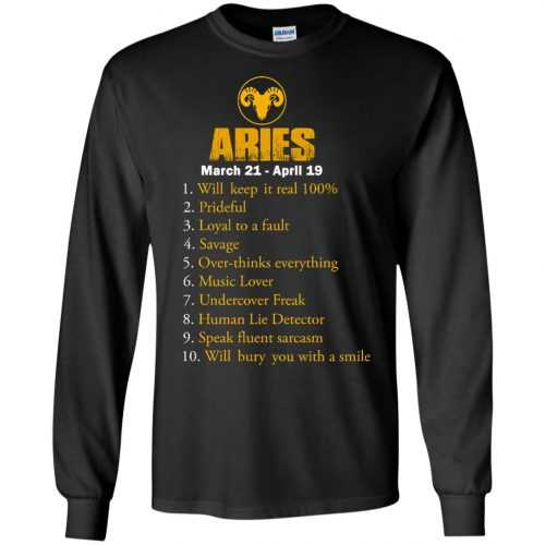Zodiac Aries: Will make it real 100% shirt, tank, hoodie - image 3 500x500