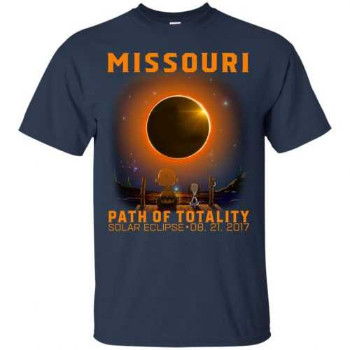 Snoopy: Missouri Path of totality solar eclipse shirt - image 340 500x500