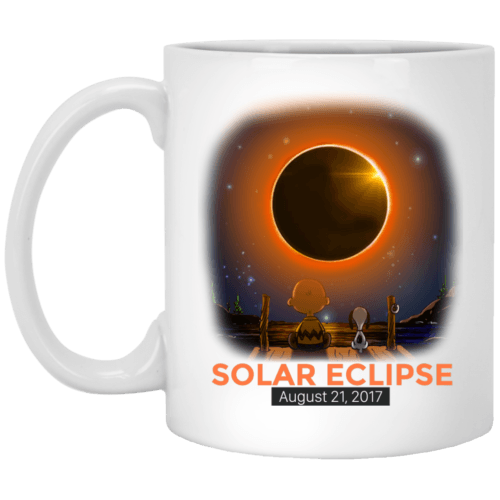 Charlie Brown and Snoopy Solar Eclipse 2017 mug - image 349 500x500
