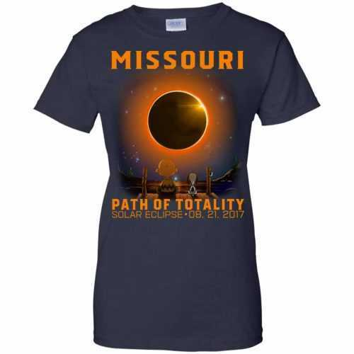 Snoopy: Missouri Path of totality solar eclipse shirt - image 350 500x500