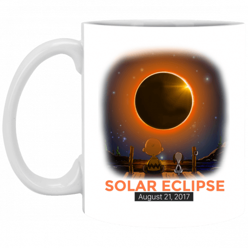 Charlie Brown and Snoopy Solar Eclipse 2017 mug - image 350 500x500