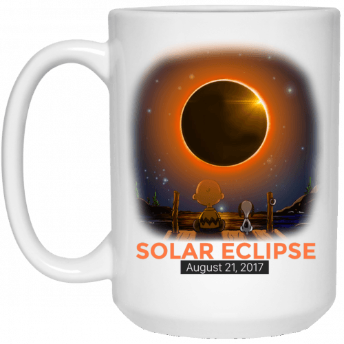 Charlie Brown and Snoopy Solar Eclipse 2017 mug - image 351 500x500
