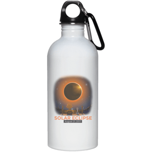 Snoopy & Charlie Brown Eclipse 2017 water bottle - image 452 500x500