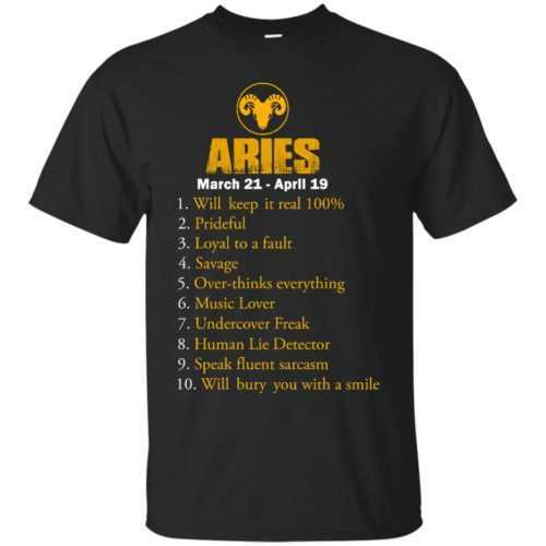 Zodiac Aries: Will make it real 100% shirt, tank, hoodie - image 500x500