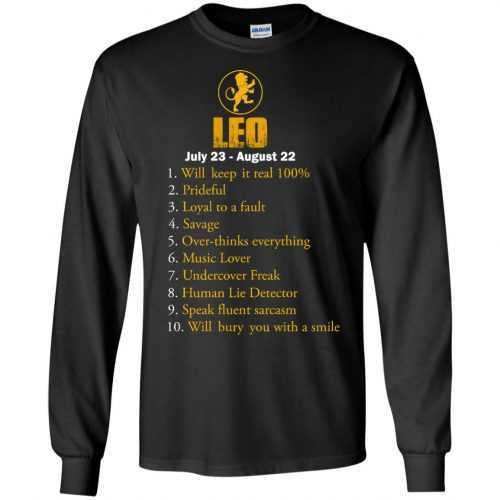 Zodiac Leo: Will make it real 100% shirt, tank, hoodie - image 55 500x500